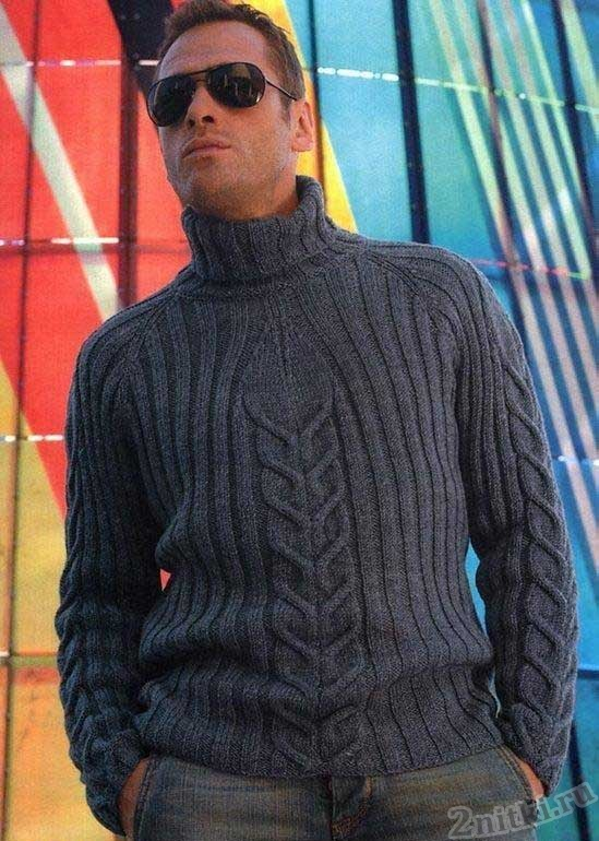 Тёмный свитер с рисунком