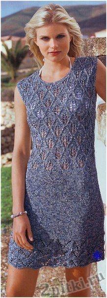 Платье с ажурным лифом и волнистой каймой