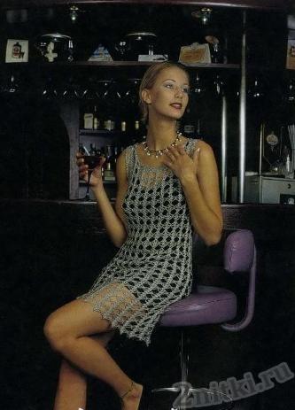 ажерное коктельное платье