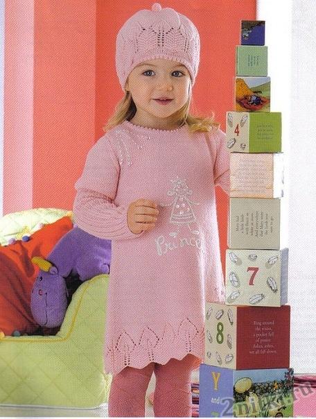 платье и шапка для девочки