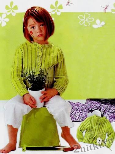 Жакет в резинку для девочки