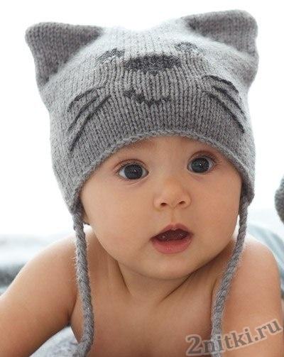 Шапка для малыша «Кот»