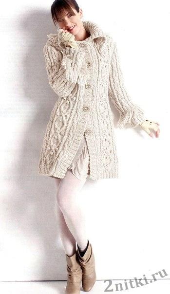 Пальто с косами