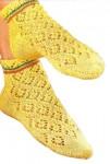 Ажурные носочки вязаные от мыска