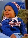 Пуловер и шапочка для малыша