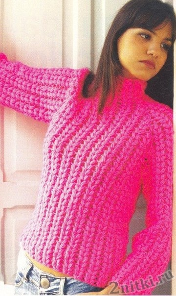 Женский свитер крючком