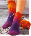 Вязаные носки спицами от мыска