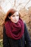 «Стокгольмский» шарф-снуд спицами