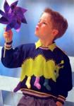 Пуловер с гусеницей