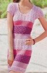 Полосатое узорчатое платье