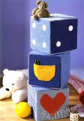 Вязаные мягкие кубики