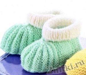 Красивые пинетки для новорожденных