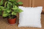 Декоративная подушка из квадратов крючком