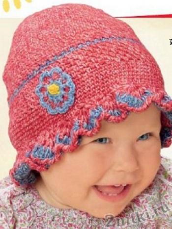 Красивая шапочка на девочку