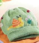 Детская шапочка с рисунком «Улитка»