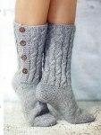 Носки с пуговицами