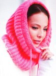Розовый шарф-труба