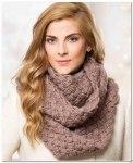 Коричневый шарф-снуд