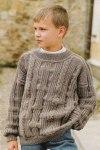 Однотонный свитер для мальчика