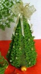 Декоративная елочка крючком