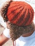 Стильная мужская шапка-ушанка