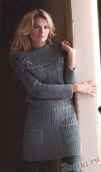 Мини-платье с широким воротником