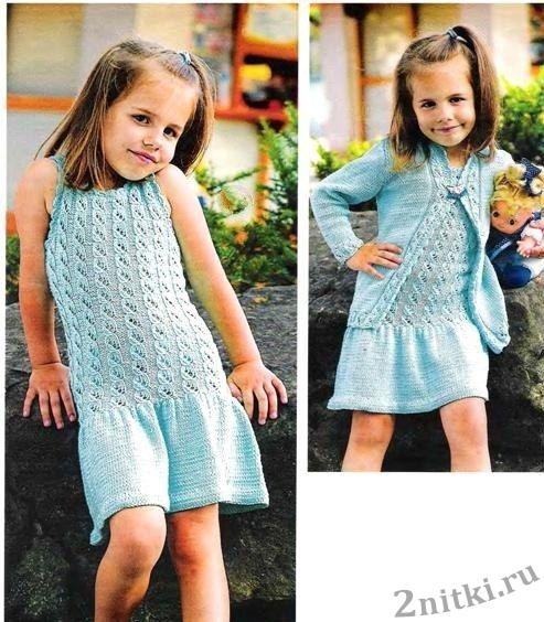 Платье и жакет для девочки