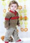 Детский пуловер с полосой