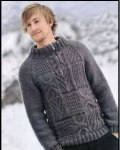 Мужской пуловер с застежкой-молнией
