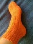 Носки вязаные по косой