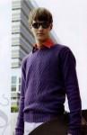 Мужской свитер без воротника