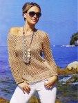 Ажурный пуловер на лето
