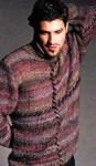 Мужской меланжевый пуловер