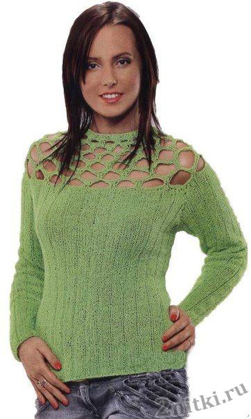 Простой пуловер в резинку