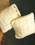 Две подушки с узорами