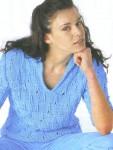 Женский пуловер из хлопковой пряжи