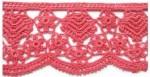 Кайма крючком с рисунком цветочков
