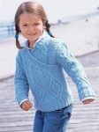 Пуловер с имитацией запаха