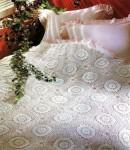 Вязаное покрывало «Сказочные подсолнухи»