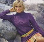 Женский свитер с узорами