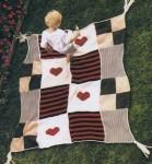 Причудливое вязаное покрывало