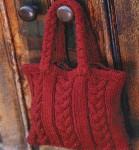 Вязаная сумка узором «Косы»