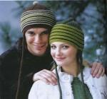 Теплые шерстяные шапочки спицами