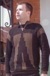 Мужской спортивный пуловер крючком