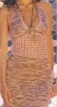 Летнее платье с ажурной вставкой
