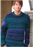 Мужской пуловер из меланжевой пряжи