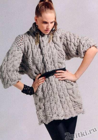 Мини-платье с узорами из кос