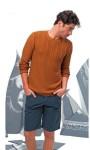 Мужской пуловер с узором