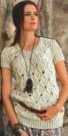 Пуловер с узором и короткими рукавами