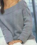 Пуловер с «косами»